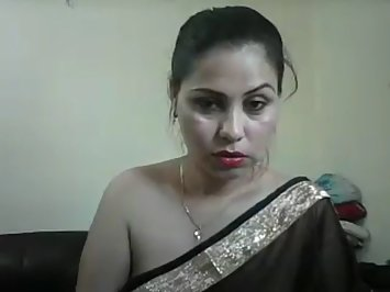 Jhanvi Bhabhi In Black Sari Sex Show
