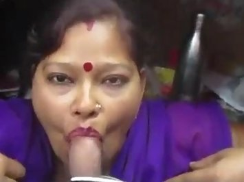 Married Indian Wife Blowjob